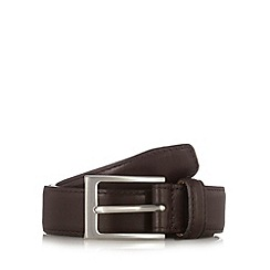 J by Jasper Conran - Designer dark brown leather belt