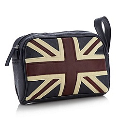 Red Herring - Navy appliqued Union Jack wash bag