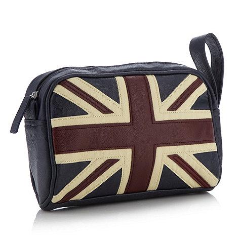 Red Herring - Navy appliqued Union Jack wash bag