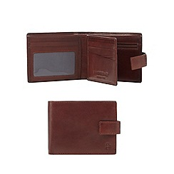 Hammond & Co. by Patrick Grant - Tan leather debossed logo wallet