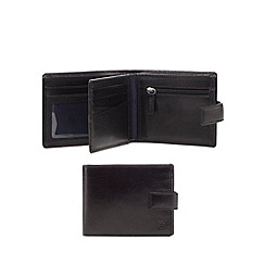 Hammond & Co. by Patrick Grant - Black leather debossed logo wallet