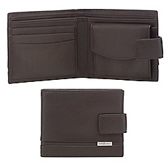 J by Jasper Conran - Dark brown leather tab wallet