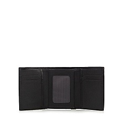 J by Jasper Conran - Black leather trifold wallet