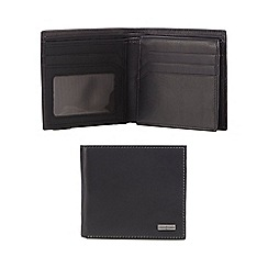 J by Jasper Conran - Black leather fold out wallet
