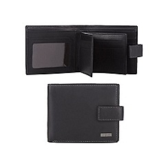 J by Jasper Conran - Black leather swing tab wallet