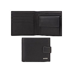 J by Jasper Conran - Black leather logo plate wallet