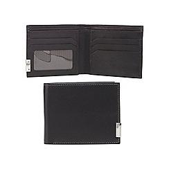 J by Jasper Conran - Black leather logo bar wallet