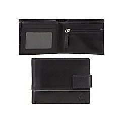 Jeff Banks - Black leather debossed logo wallet