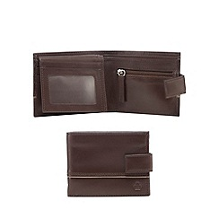 Jeff Banks - Brown leather debossed logo wallet