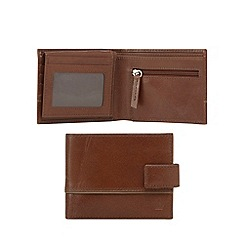 Jeff Banks - Tan leather debossed logo wallet