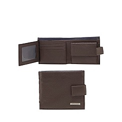 J by Jasper Conran - Brown grained leather wallet