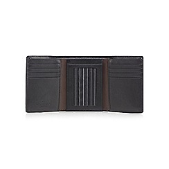 Jeff Banks - Black leather trifold wallet