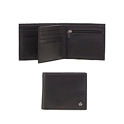 Jeff Banks - Black leather double slot wallet