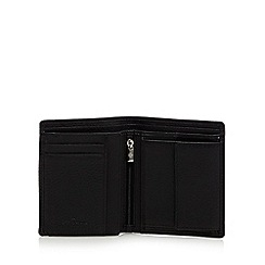 Jeff Banks - Black coin pocket leather wallet
