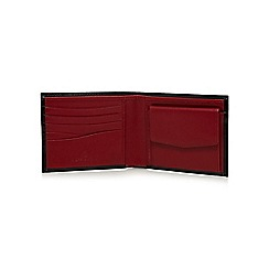 Jeff Banks - Black contrasting leather wallet