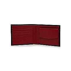 Jeff Banks - Black contrasting leather wallet