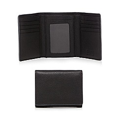 Mantaray - Black leather grained wallet