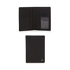 Jeff Banks - Black leather passport cover