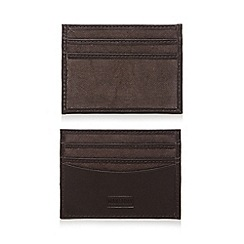 Mantaray - Brown leather card holder