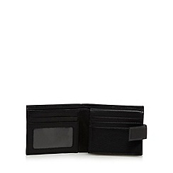 RJR.John Rocha - Black leather tab wallet