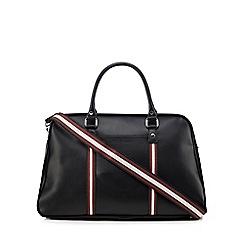 Ben Sherman - Black striped trim holdall bag