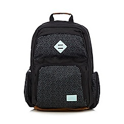 Animal - Black geometric print backpack
