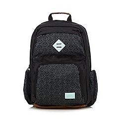 Animal - Black geometric print backpack