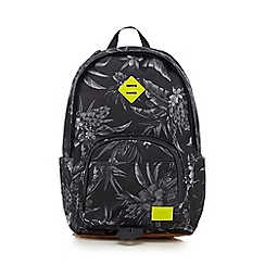 Animal - Grey floral print backpack