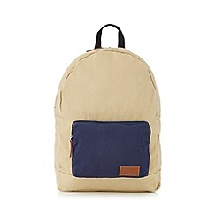 Red Herring - Beige canvas backpack