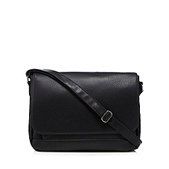 Red Herring - Black leatherette despatch bag