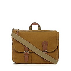 RJR.John Rocha - Khaki heavy wash satchel bag