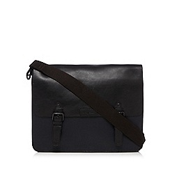 J by Jasper Conran - Navy leather colour block satchel bag