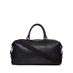 J by Jasper Conran - Navy leather colour block weekender bag