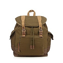 RJR.John Rocha - Khaki washed canvas backpack
