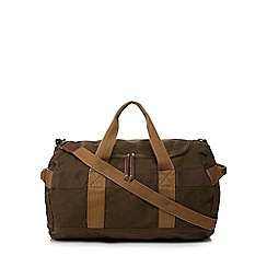 RJR.John Rocha - Khaki washed canvas holdall bag