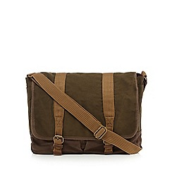 RJR.John Rocha - Khaki washed canvas despatch bag