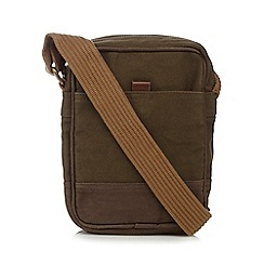 RJR.John Rocha - Khaki washed canvas utility bag