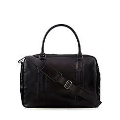 J by Jasper Conran - Black stitched large holdall bag