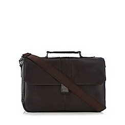 Jeff Banks - Brown clasp briefcase