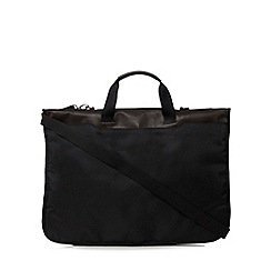 Jeff Banks - Black geometric textured suit carrier