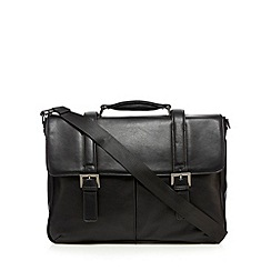 J by Jasper Conran - Black mock buckle briefcase