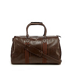 Red Herring - Brown stripe holdall bag