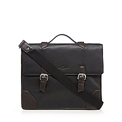 Jeff Banks - Black leather briefcase