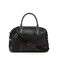 Jeff Banks - Black leather holdall bag