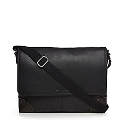 Jeff Banks - Black leather despatch bag