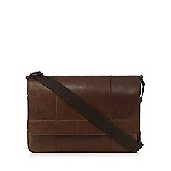 Mantaray - Brown split leather despatch bag