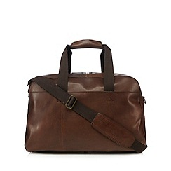 Mantaray - Brown leather holdall bag