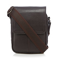 RJR.John Rocha - Brown leather pouch bag