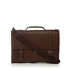 RJR.John Rocha - Brown leather briefcase