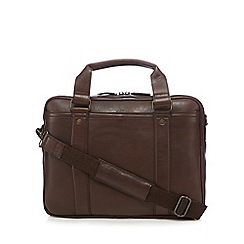 RJR.John Rocha - Brown leather two handle briefcase